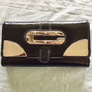 Guess Black Patent Leather Wallet